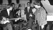 An early incarnation of the Rolling Stones, featuring 'Sixth Stone' Ian Stewart (back, with maracas).