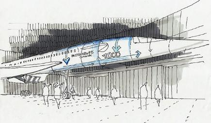 Artist's impression of new Concorde museum