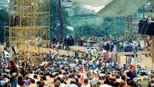 Stage and crowd at Woodstock