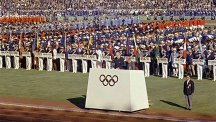 Opening ceremony at 1964 Tokyo Olympics