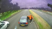 Bizarre road rage captured on video