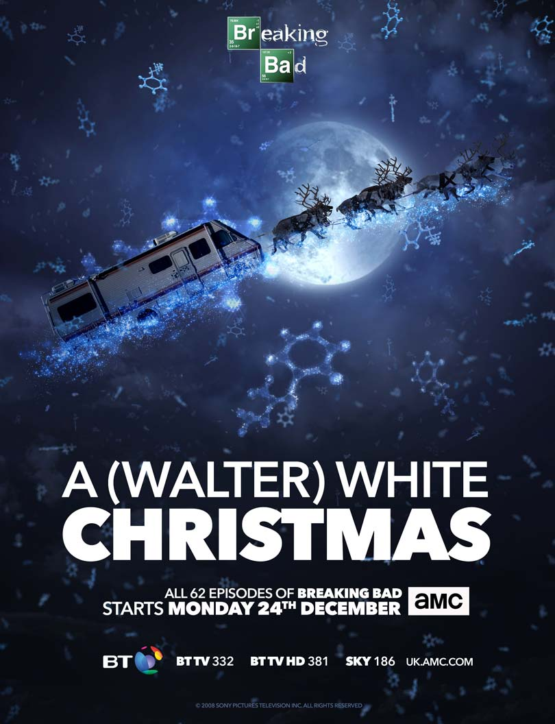 A Walter White Christmas on AMC and BT TV