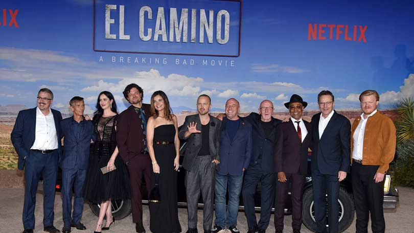 Breaking Bad cast reunion at movie premiere