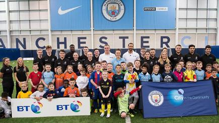BT joins with Manchester's clubs to help young