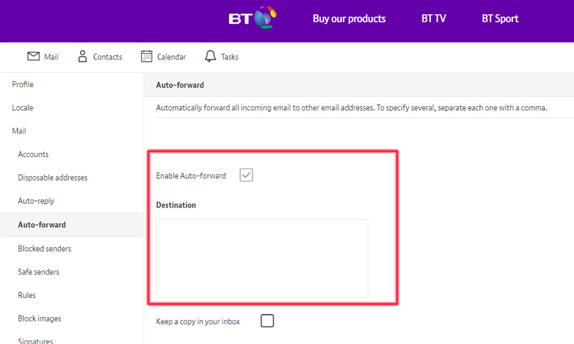 BT Mail: Shortcuts, tips and settings in your email | BT