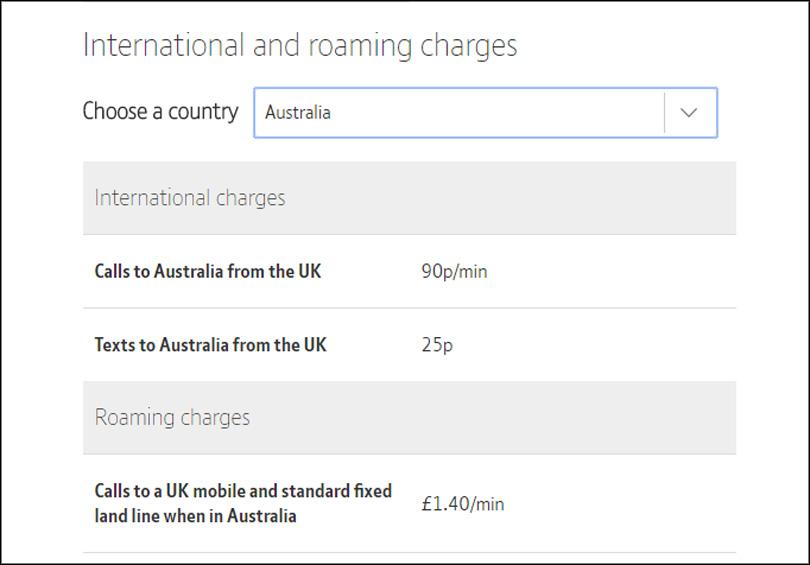 BT Mobile cost international calls
