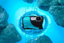 Canon D20 blue in water