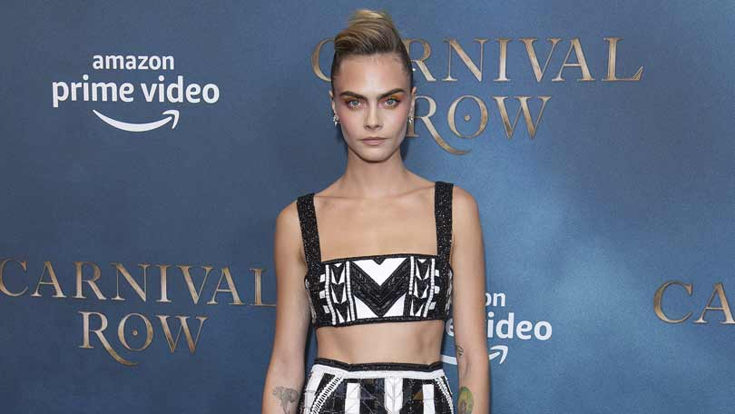 Carnival Row launch in London - Cara Delevingne poses