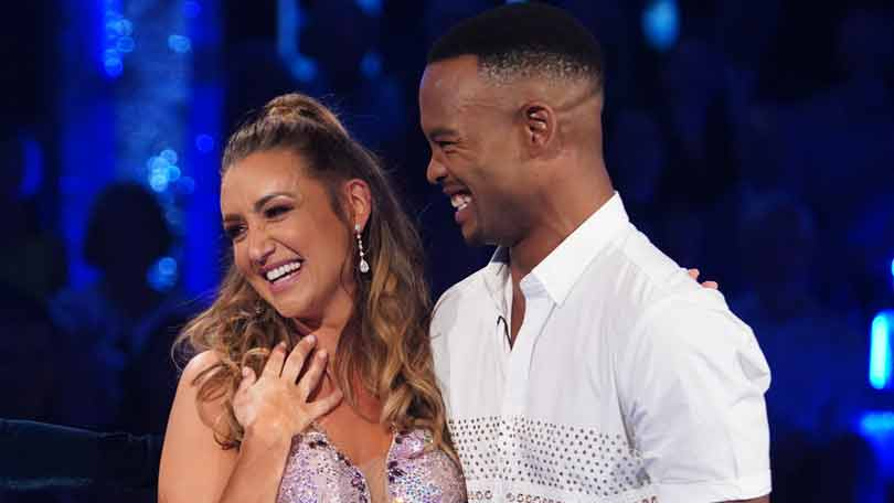Catherine Tyldesley and Johannes Radebe