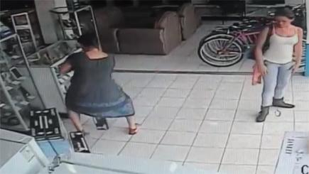 skirt caught on camera