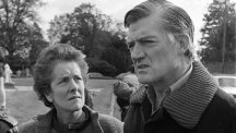 Cecil Parkinson and his wife Ann face the press outside their home