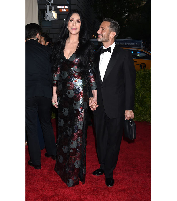 Cher with Marc Jacobs at the 2015 Met Gala