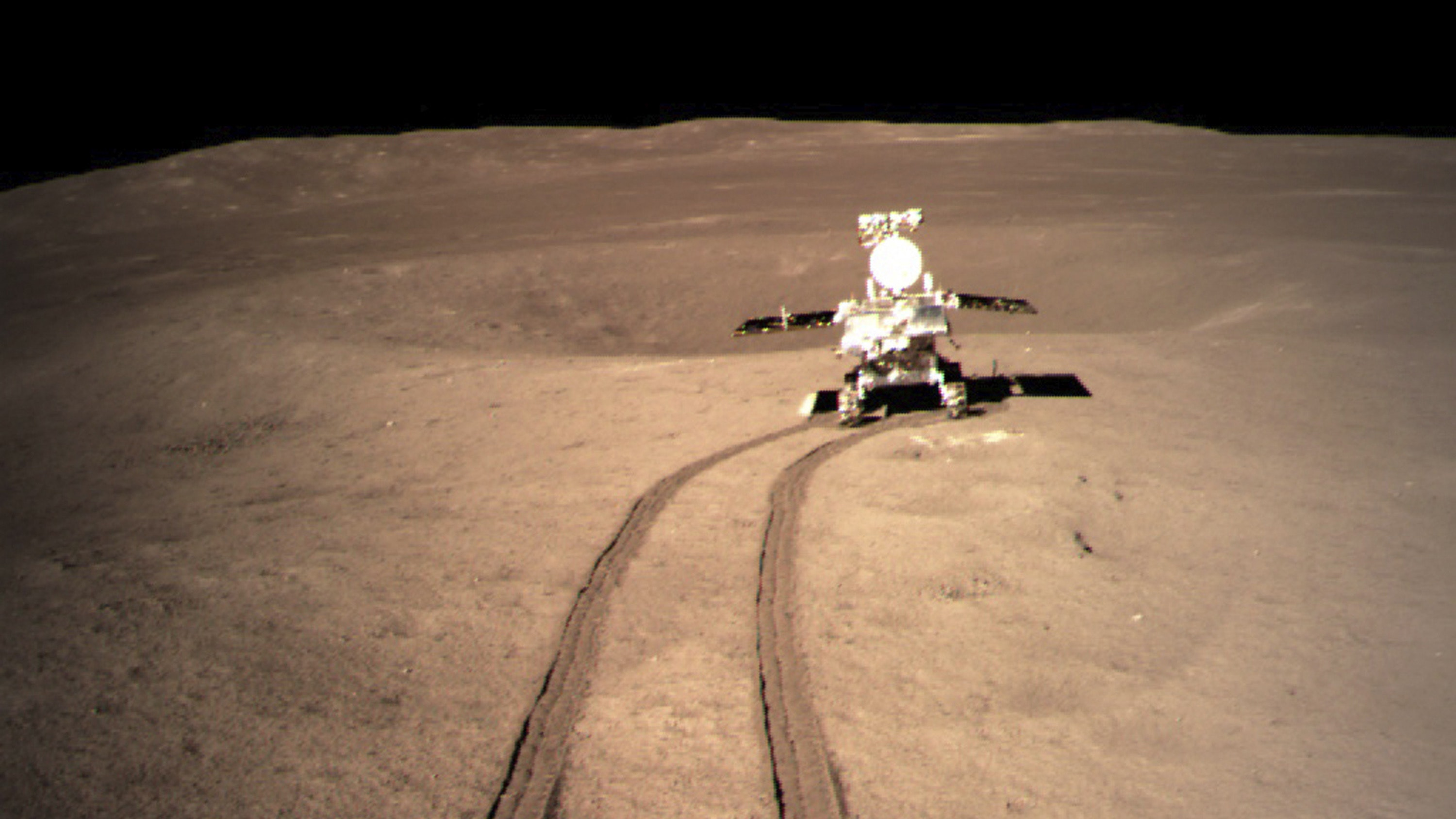 Image result for A Chinese space probe has safely landed on the far side of the Moon