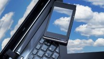 Cloud on tablet phone and laptop T