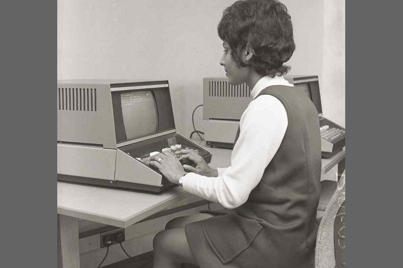 Computer visual display unit, Camelford House, London.1970.