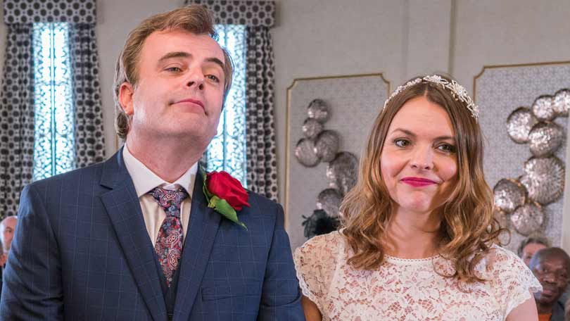 Tracy and Steve in Coronation Street