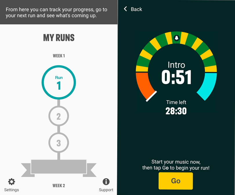 Couch to 5km app