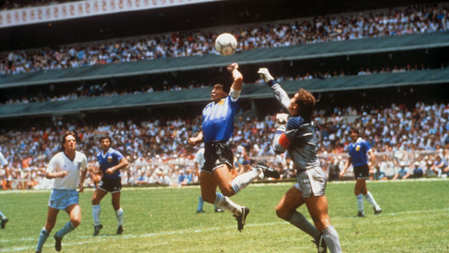 June 22, 1986: Maradona crushes England's World Cup dreams with the Hand of  God goal | BT