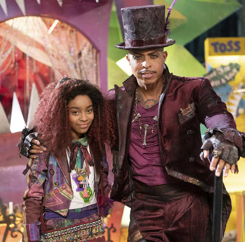 Descendants 3 -  Jamal Sims as The Princess and the Frog's villain Dr Facilier and Jadah Marie as his daughter Celia