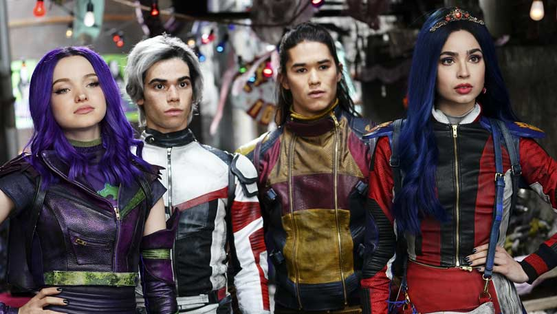 Disney's Descendants cast - Dove Cameron, Cameron Boyce, Booboo Stewart and Sofia Carlson