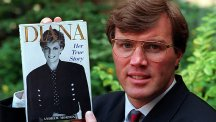 Andrew Morton with his book, Diana - Her True Story