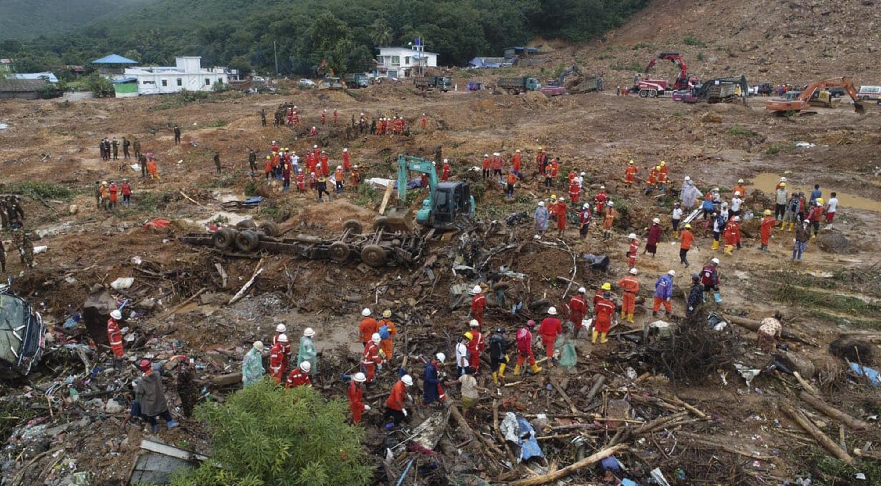 Dozens killed in Burma landslide   BT