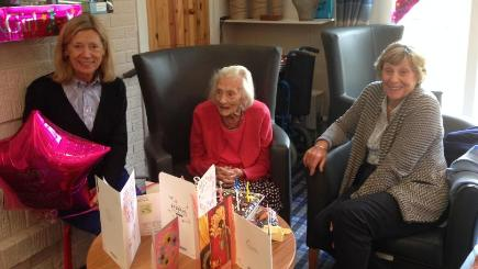 Margaret Phillips celebrates her 103rd birthday at Balcarres Care Home (Bupa/PA Wire)