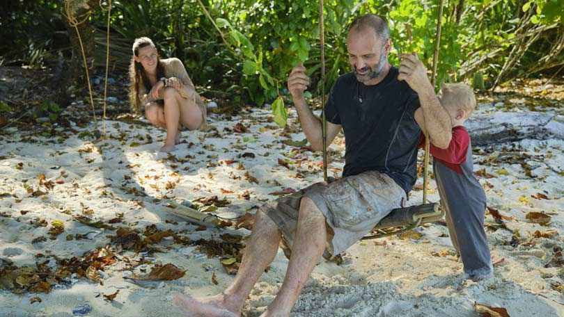 Ed Stafford, his wife Laura Bingham and their son Ran - Man Woman Child Wild on Discovery Channel