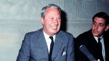 Edward Heath at his first press conference as Conservative leader.