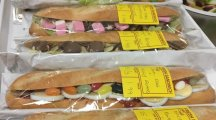 Egg, jelly beans and jam? These might be the most unusual baguettes we've ever seen