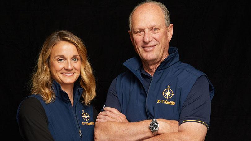 National Geographic's lead team on Expedition Amelia - Bob Ballard and Allison Fundis