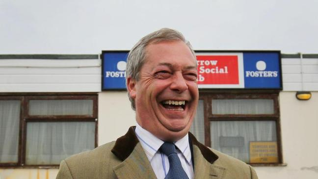 Ukip leader Nigel Farage laughed off David Cameron's call to Ukip voters to 'come home' to the Tories