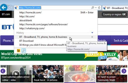 how to change default page setup in internet explorer 11