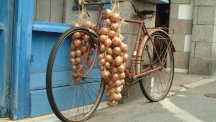 A Frenchman's bicycycle, yesterday.