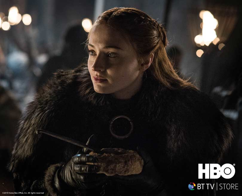 Sophie Turner as Sansa Stark in Game of Thrones: The Final Season