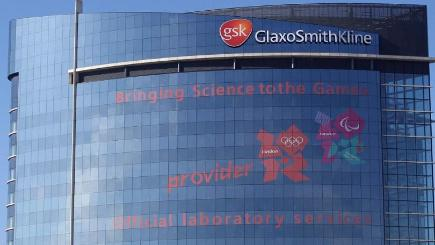 The GlaxoSmithKline headquarters in Brentford, west London.