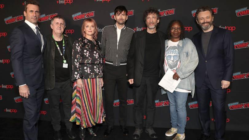 Good Omens cast at New York Comic Con