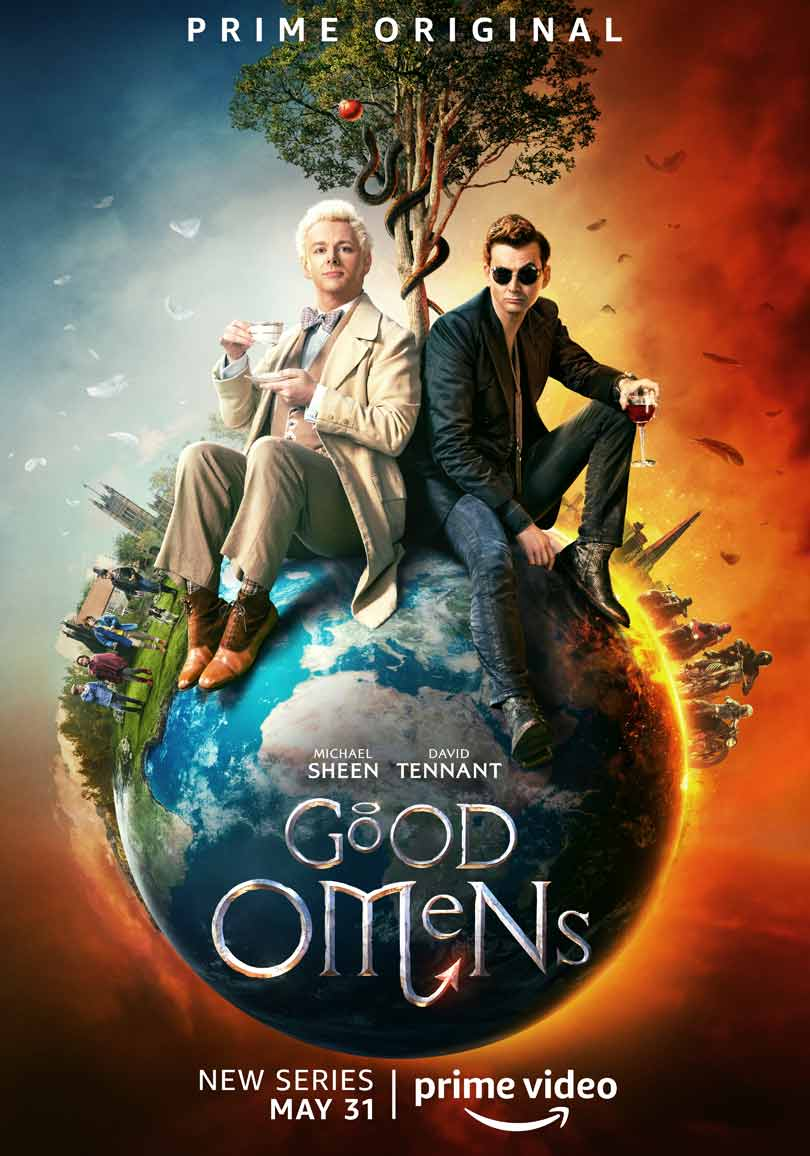 Good Omens key art - Launches on Prime Video on May 31st