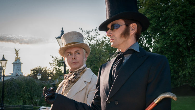 David Tennant and Michael Sheen play angels in Neil Gaiman and Terry Pratchett's Good Omens