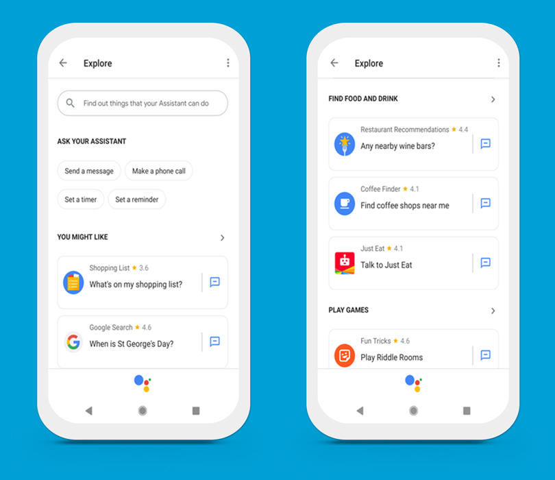 Google Home app - Explore new apps