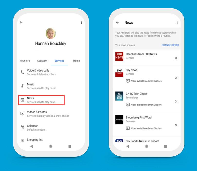 Google Home app - News