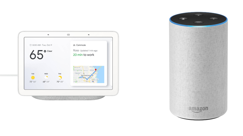 Google Home Hub Amazon Echo