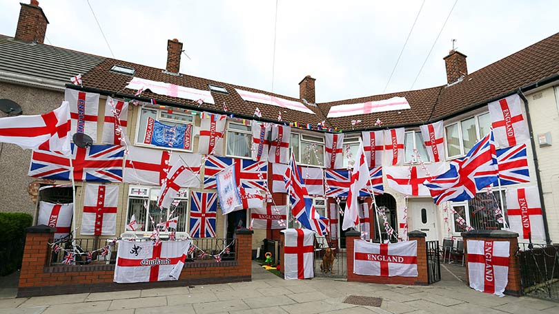 Fanatical Football Fans Fly Flag For England In Pictures
