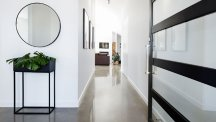 Modern contemporary hallway of home