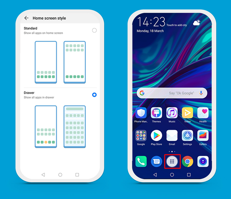 Huawei P Smart 2019 home screen style
