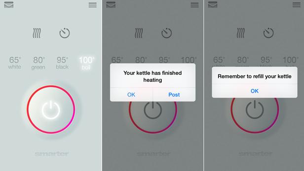 iKettle app screenshots