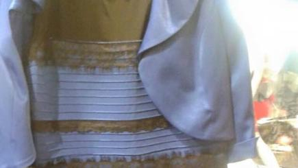 Is this dress white and gold or blue and black?