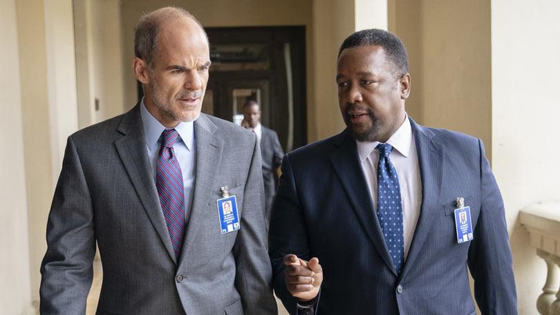 Wendell Pierce and Michael Kelly in Jack Ryan season two