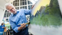 Jeremy Corbyn had a go at painting and it turned out surprisingly well