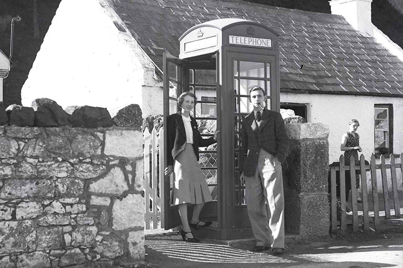 K6 telephone kiosk, Garron Point, Northern Ireland. 1938.